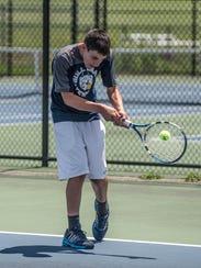 Gull Lake junior Trenton Quartermaine playing at the