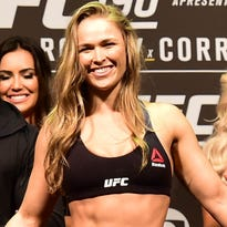 Ronda Rousey during weigh-ins for UFC 190 at HSBC Arena.