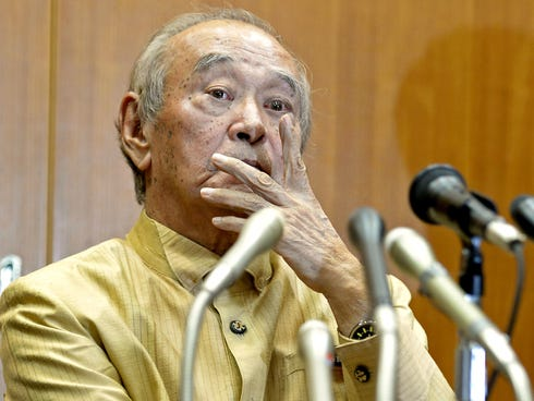 Gov. Hirokazu Nakaima approved a deal Dec. 27 to reclaim land on Okinawa's coast in order to replace the U.S. base in Futenma.