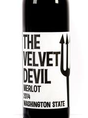 Charles Smith Wines The Velvet Devil has aromas of cherries, cedar and tobacco.
