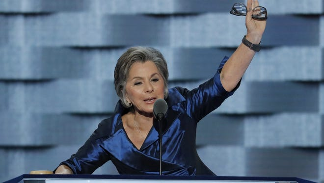 Then Sen. Barbara Boxer, D-Rancho Mirage, endorsed Attorney General Kamala Harris over Rep. Loretta Sanchez during the second day of the Democratic National Convention in Philadelphia on Tuesday, July 26, 2016. J. Scott Applewhite/Associated Press