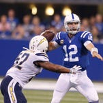Luck, Hilton rescue Colts late against Chargers