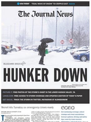 The Journal News e-edition cover for Tuesday, Jan. 27, 2015.