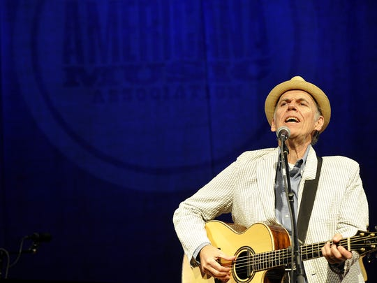 John Hiatt performs at the Americana Music Award nominee announcement at the Country Music Hall of Fame in 2015.