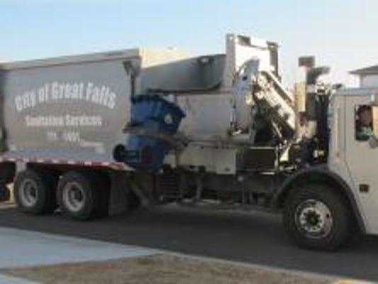 Great Falls garbage truck