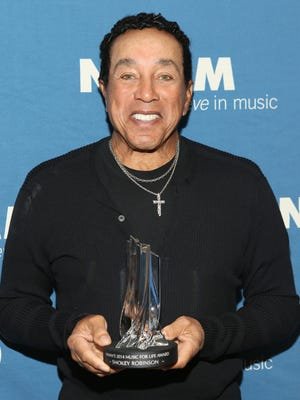 Singer/songwriter Smokey Robinson attends the 2014 National Association of Music Merchants show at the Anaheim (Calif.) Convention Center on Jan. 23.