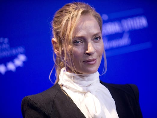 What happened to Uma Thurman's face?