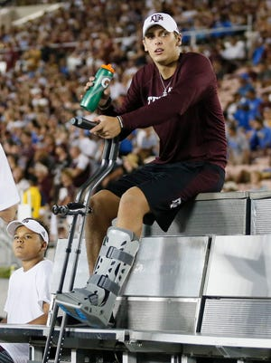 Texas A&M quarterback Nick Starkel broke his left ankle during the Aggies' loss to UCLA, coach Kevin Sumlin said.