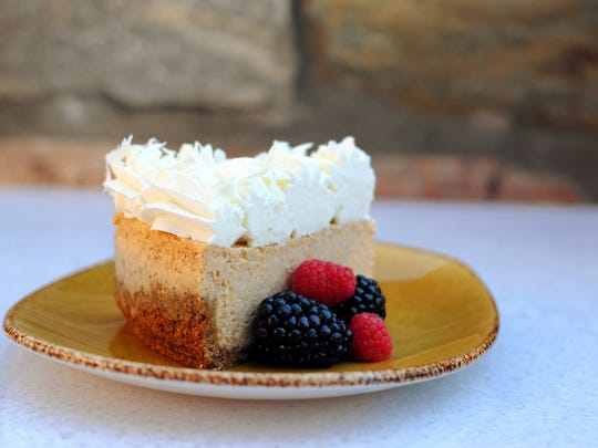 The pumpkin cheese cake will be on the menu Dec. 25 at ZuZu a the Hotel Valley Ho.