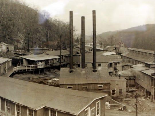 Part of the original DuPont plant that produced detonator caps.  Photo taken in 1943.