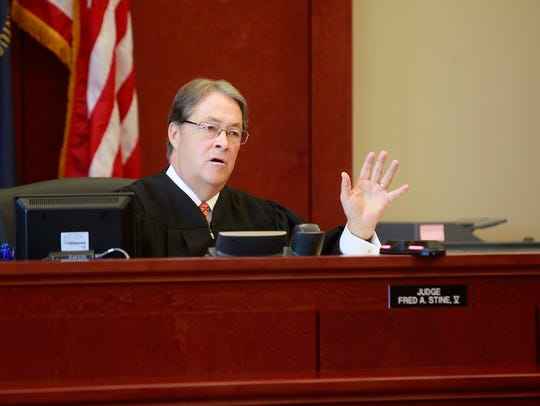 Campbell Circuit Judge Fred A. Stine, pictured during