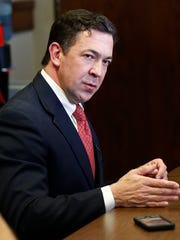 State Sen. Chris McDaniel, R-Ellisville, explains to