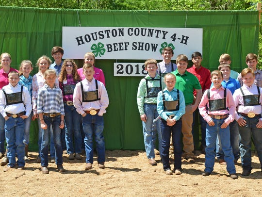 Competitors in the 2018 Houston County 4-H Beef Show