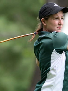 Taylor Totland, shown during the Tournament of Champions last year, graduated from Red Bank Catholic and has continued her success in golf as a freshman at Furman University.