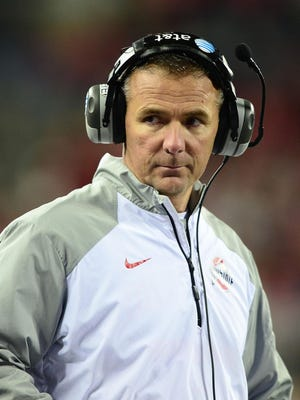 Ohio State Buckeyes head coach Urban Meyer received a raise after the team went undefeated in the regular season in 2013, but then ended the year with losses in the Big Ten Championship Game and the Orange Bowl.
