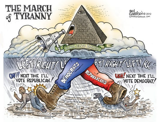 Drawn in 2010, Ben Garrison said this was his first