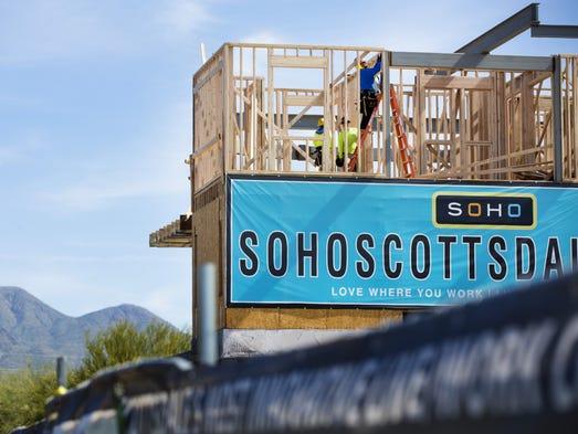 SoHo Scottsdale on the corner of 92nd Street and Bahia