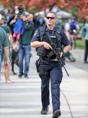 Michigan State police increased security for Saturday's game against Indiana at Spartan Stadium.