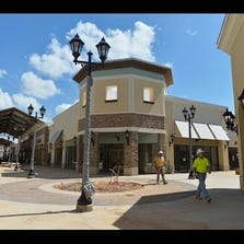 Charlotte Premium Outlets on the final days of construction