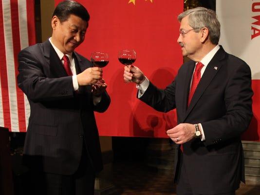 China Vice President Xi Jinping Iowa Governor Terry Branstad