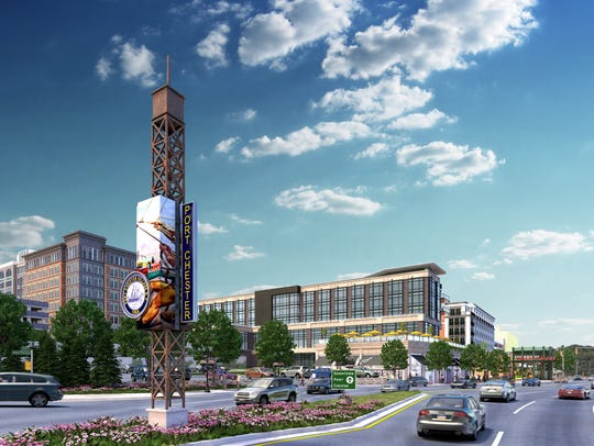 A rendering of the Starwood proposal in Port Chester.