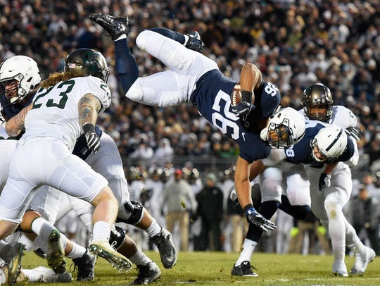 Penn State's Saquon Barkley rushed for 1,496 yards