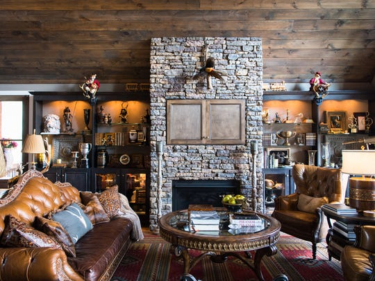 The Great Room at Tim Hill's Asheville home called