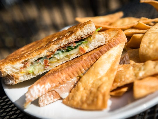 Foggy Mountain Brew Pub's Prosciutto Panini with dry-cured