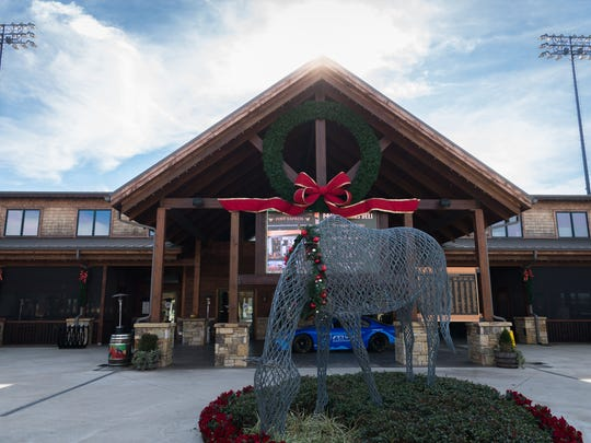The welcome center at the Tryon International Equestrian Center.