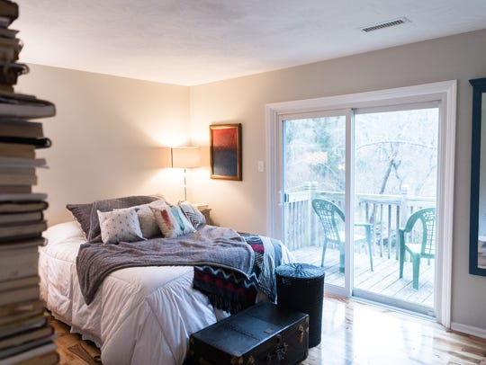 One of the bedrooms in the home of Davida Falk and