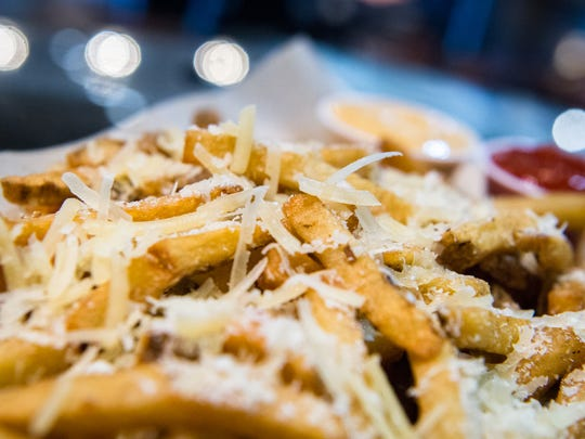 Truffle fries served at the Carolina Cinemark movie