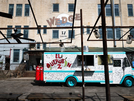 The El Querubin food truck parked at the Wedge Studios