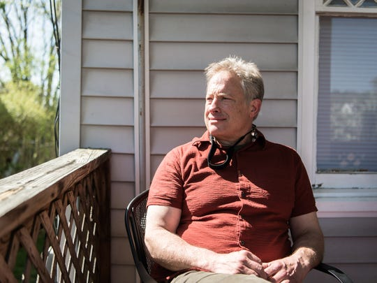Reid Thompson, at one of his Airbnb properties on Maxwell Street in Asheville.