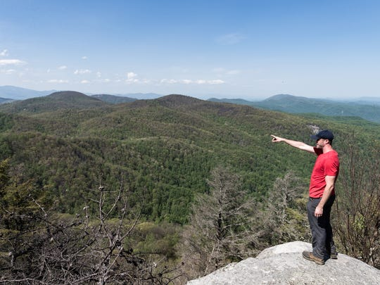 Peter Barr, the trails coordinator for Conserving Carolina,