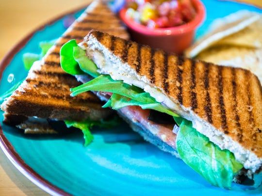 Fractals Coffee shop's fontina roast beef sandwich