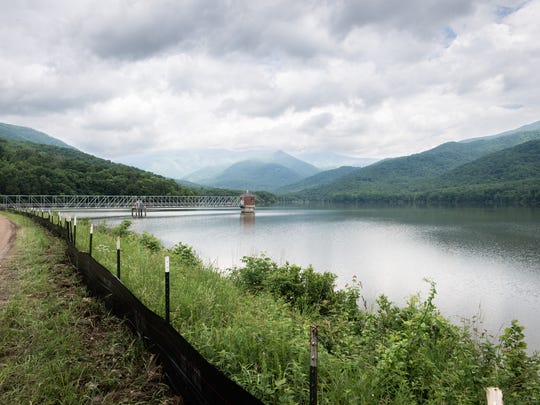 The North Fork Reservoir in Black Mountain is the drinking water source for much of Asheville. The city recently switched to an electronic payment system that has created some confusion.