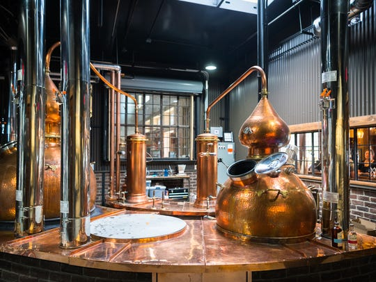 The still at the Chemist Craft Distillery on Coxe Avenue