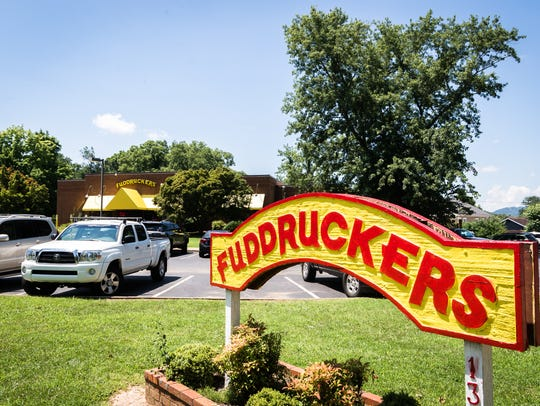 Fuddruckers restaurant on Charlotte Street in Asheville.