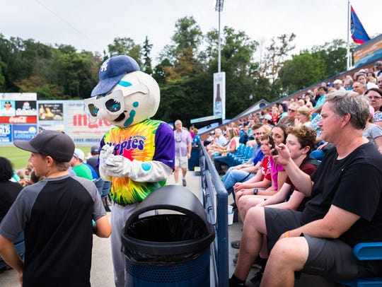 The Asheville Tourists hosted the Greenville Drive