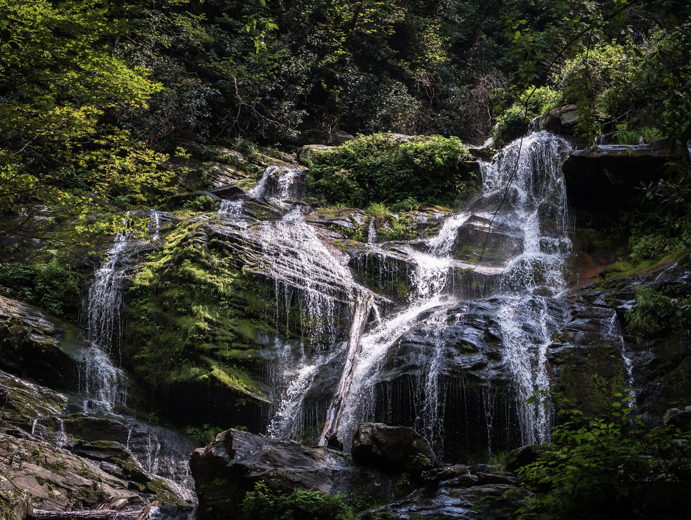 Catabwa Falls in the Pisgah National Forest in Old