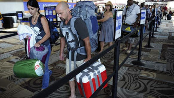 A heavy number of travelers are expected to depart