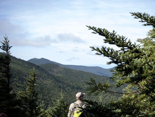 A scene along the Black Mountain Crest Trail in Mount