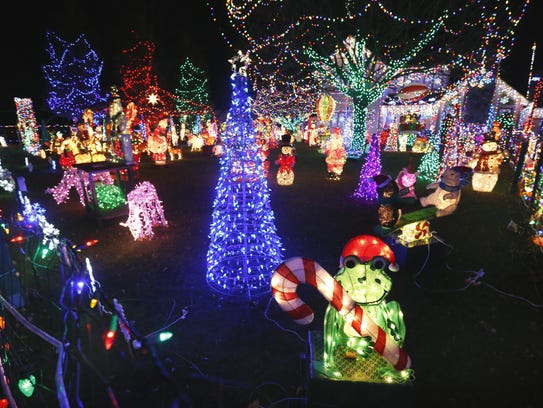Bill Werner's Christmas lights display at 151 Yorktown Drive in Penfield. This is the last year that Werner is setting up the lights and has already sold them by word of mouth.