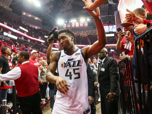 NBA: Playoffs-Utah Jazz at Houston Rockets