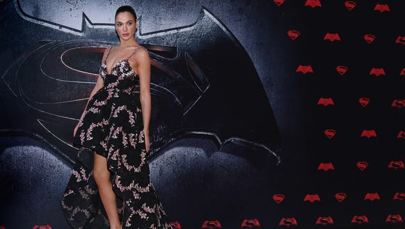 Gadot wore a high-low hem to the Mexico City premiere.
