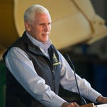 Indiana Gov. Mike Pence announced his 21st Century Crossroads plan Oct. 13, 2015, at a press conference held at the Indiana Department of Transportation Traffic Management Center, Indianapolis.