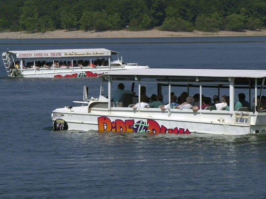 Ride the Ducks boats cruise Table Rock Lake in this file photo. The duck boats are no longer operating in Branson.