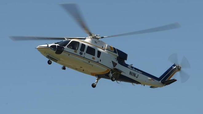 A pedestrian hit by a motor vehicle at about 10 a.m. Friday was seriously injured and needed to be flown to a trauma center, said Little Silver Police Chief Daniel Shaffery. A State Police Northstar medevac helicopter is seen in this 2010 file photo.