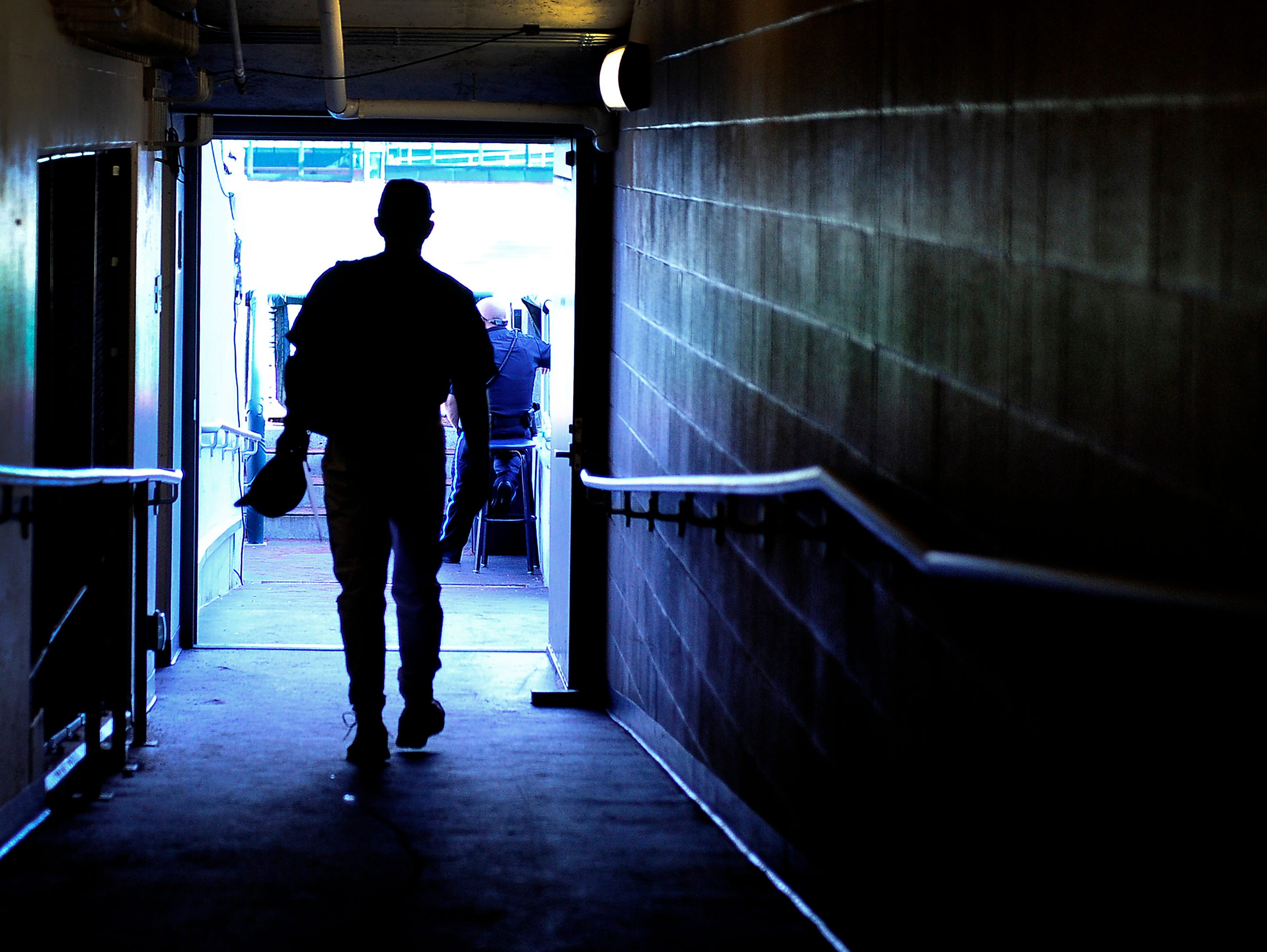 Vanderbilt Head Coach Tim Corbin walks to the dugout before the Texas game at the College World Series at TD Ameritrade Park in Omaha, Neb., Saturday, June 21, 2014.