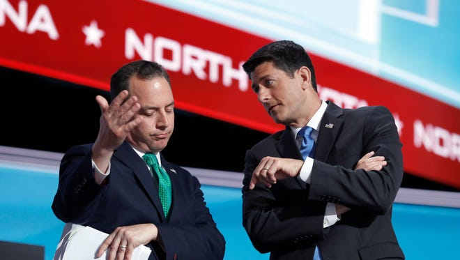 GOP Chairman Reince Preibus and House Speaker Paul Ryan at the Republican convention.